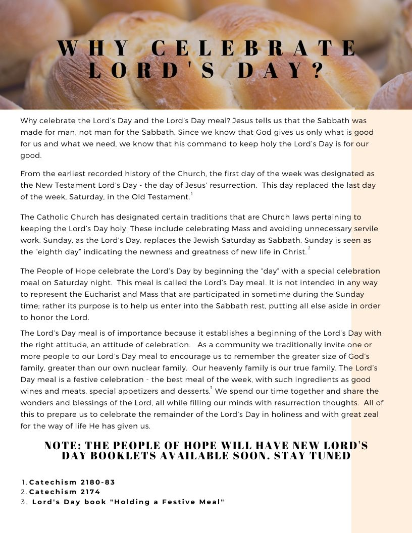 Why Lord's Day?