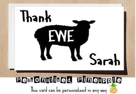 THANK EWE YOU CARD