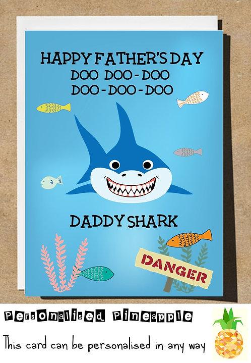 FATHERS DAY CARD - DADDY SHARK - BABY SHARK - DOO DOO