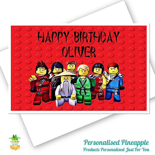NINJAGO LEGO Birthday Card Son Daughter Grandson Can Be Personalised Name Age