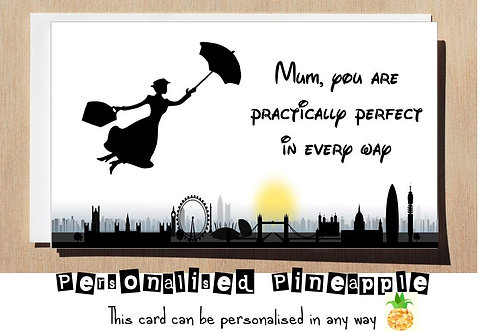 MOTHERS DAY CARD - DISNEY MARY POPPINS PRACTICALLY PERFECT IN EVERY WAY