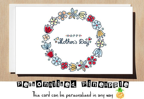 HAPPY MOTHER'S  DAY CARD - MOTHERS - FLOWERS