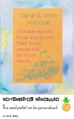 Wedding Wildflower Flower Seed Packet Favour Brown