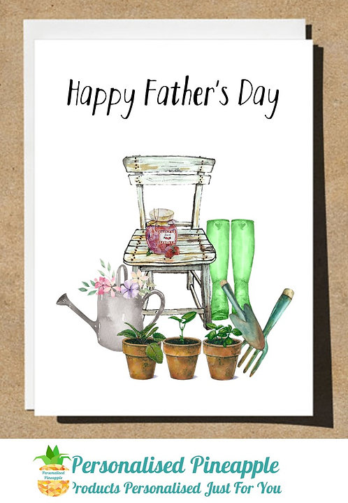 FATHERS DAY CARD GARDENING