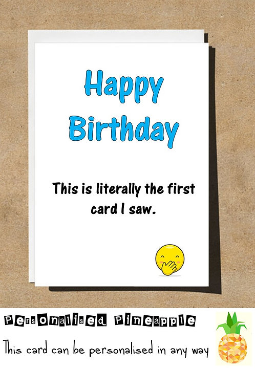 LITERALLY THE FIRST CARD I SAW EMOJI BIRTHDAY CARD