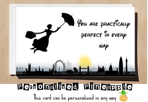 PRACTICALLY PERFECT BIRTHDAY CARD
