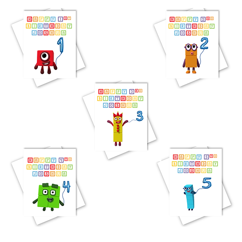 Numberblocks 1st 2nd 3rd 4th 5th Birthday Card Son Daughter Can Personalised