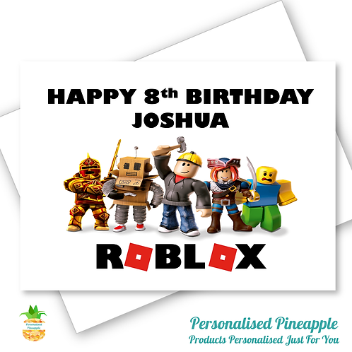 Roblox Gaming Birthday Card Son Daughter Grandson Can Be Personalised Name Age