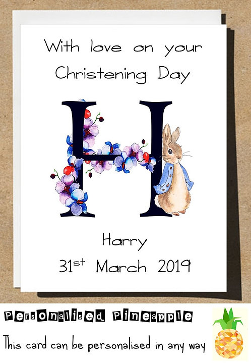 CHRISTENING DAY CONGRATULATIONS CARD