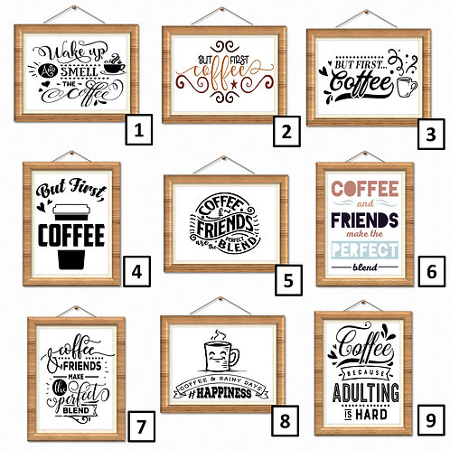 Coffee Lover Wall Art Print Poster Décor Quotes Many Design Family Home Office
