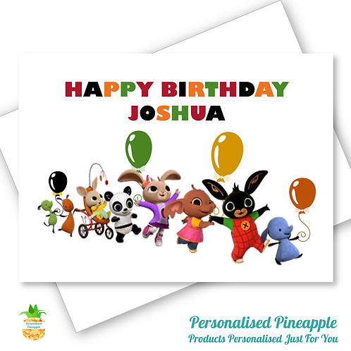 BING Birthday Card Son Daughter Grandson Can Be Personalised Name Age