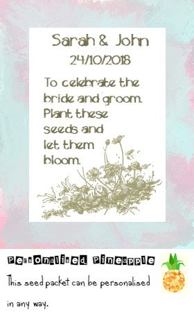 Wedding Wildflower Flower Seed Packet Favour White