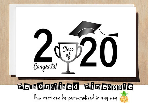 GRADUATION CARD - CLASS OF 2020 CUP HAT