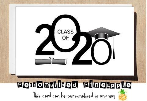 GRADUATION CARD - CLASS OF 2020 HAT DEGREE