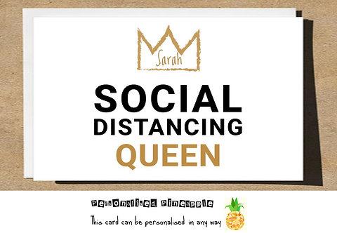 SOCIAL DISTANCING QUEEN LOCKDOWN CARD