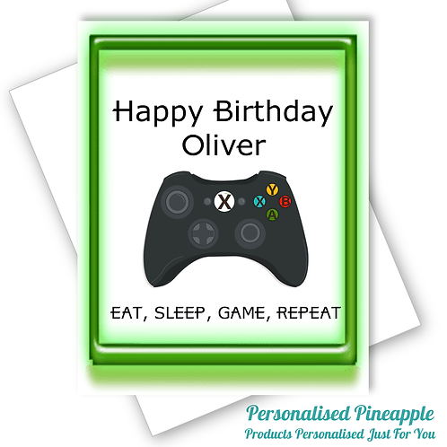 XBOX Gaming Birthday Card Son Grandson Nephew Teenage Can Be Personalised Name
