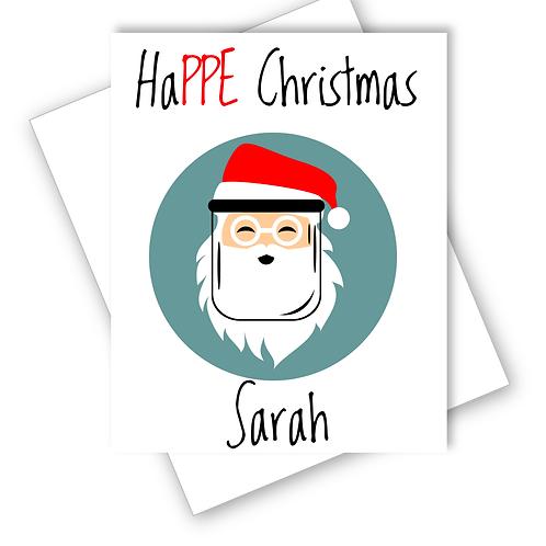 HaPPE Christmas Mask Santa Lockdown Card Funny