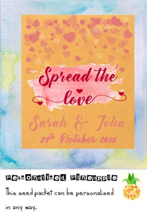 Wedding Spread the Love Flower Seed Packet Favour Brown
