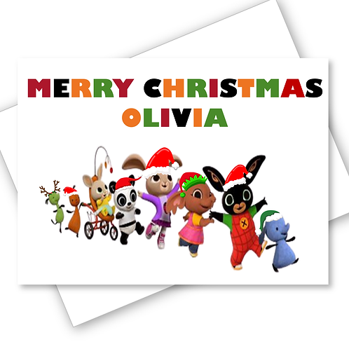 BING Christmas Card Son Daughter Grandaughter Grandson Niece Nephew PERSONALISED