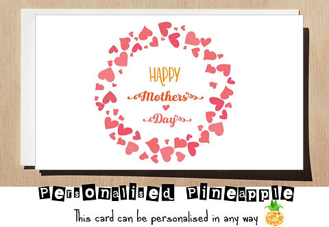 HAPPY MOTHERS DAY CARD - HEARTS