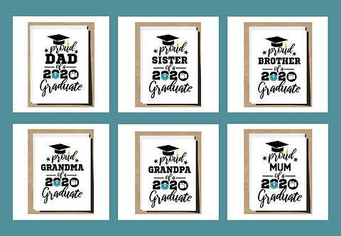 Graduation Card Proud Sister Brother Mum Dad Any Relation - 2020
