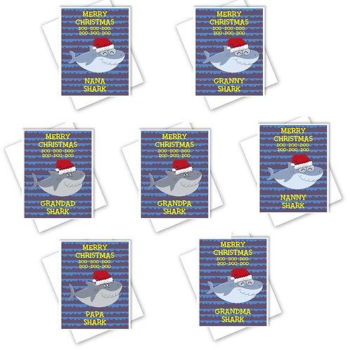 BABY SHARK CHRISTMAS CARD - GRANDMA GRANDPA NANA PAPA GRANDAD NANNY NANA
