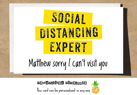 SOCIAL DISTANCING EXPERT CARD