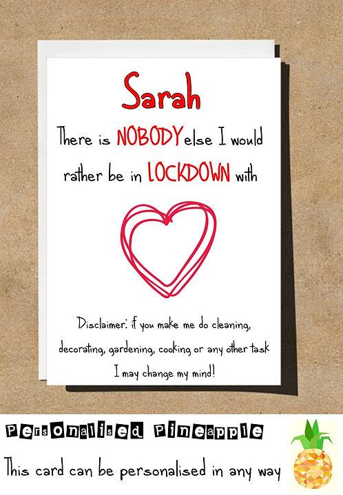 COUPLE LOVE LOCKDOWN CARD