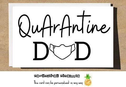 FATHERS DAY CARD -  QUARANTINE MASK DAD