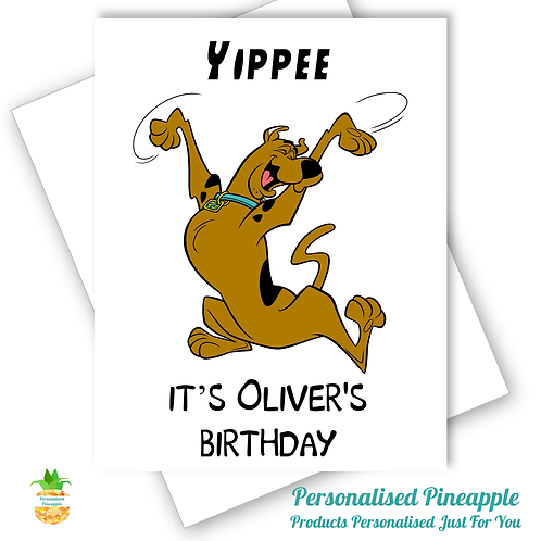 Scooby Doo Birthday Card Son Daughter Grandson Can Be Personalised Name Age
