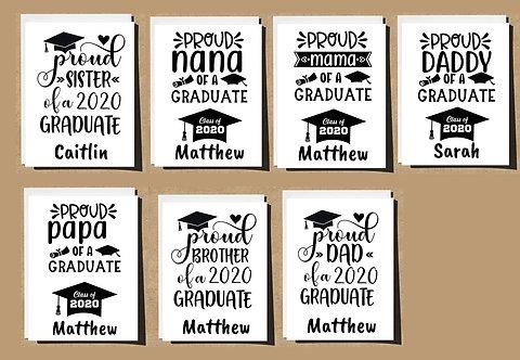 Graduation Card Proud Sister Brother Nana Papa Mama Dad Any Relation - 2020