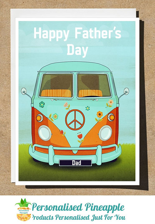FATHERS DAY CARD VW CAMPER DAD