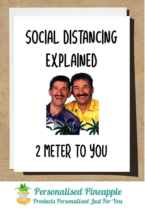 BIRTHDAY OR JUST BECAUSE CARD CHUCKLE BROTHERS 2 METER TO YOU