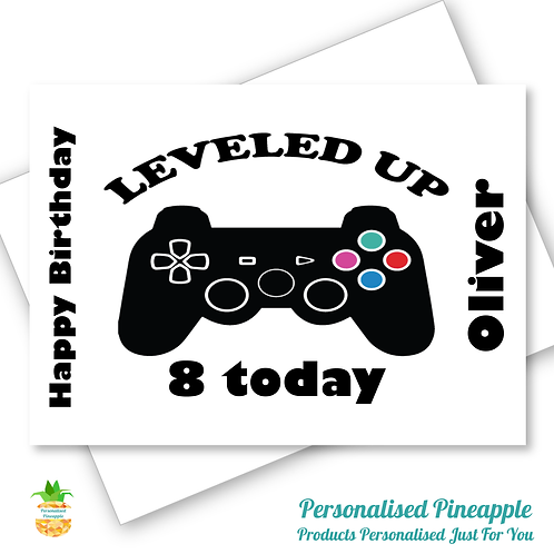 Gaming XBOX PlayStation Birthday Card Son Grandson Can Be Personalised Name Age