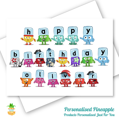 ALPHABLOCKS Birthday Card Son Daughter Grandson Can Be Personalised Name Age