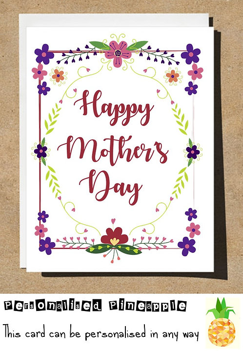 HAPPY MOTHERS DAY CARD - FLORAL