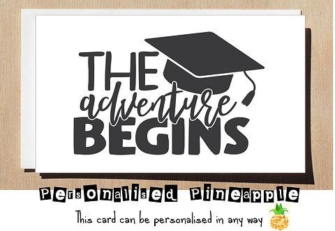 GRADUATION CARD - THE ADVENTURE BEGINS