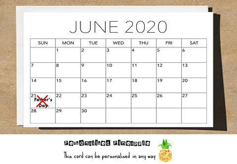 FATHERS DAY CARD - CANCELLED CALENDAR