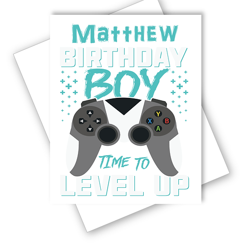 XBOX PLAYSATION GAMING BIRTHDAY CARD SON GRANDSON TEENAGE  PERSONALISED