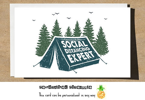 CAMPING SOCIAL DISTANCING EXPERT LOCKDOWN CARD