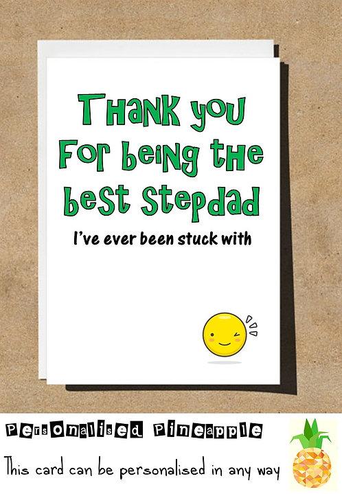 BEST STEPDAD I'VE EVER BEEN STUCK WITH EMOJI BIRTHDAY CARD