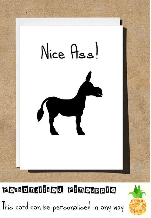 NICE ASS! DONKEY BIRTHDAY CARD