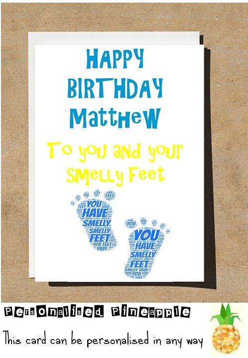SMELLY FEET BIRTHDAY CARD