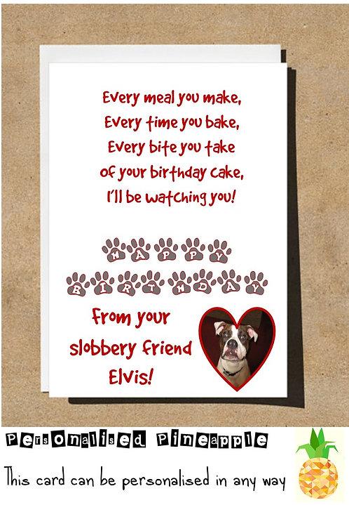 PET POEM SLOBBERY FRIEND BIRTHDAY CARD