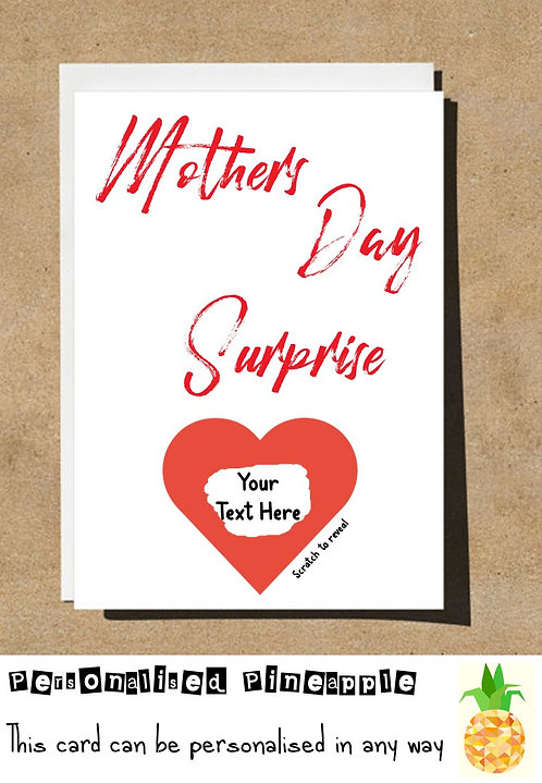 MOTHERS DAY CARD SCRATCH OFF SURPRISE HEART