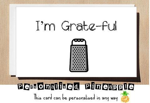 I'M GRATEFUL THANK YOU CARD