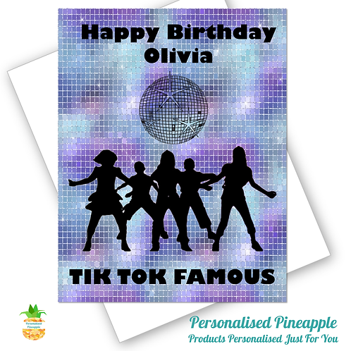 TIK TOK Famous Birthday Card Daughter Friend Dance Can Be Personalised N