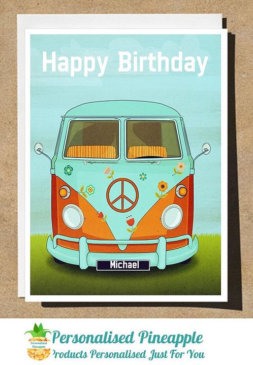 HAPPY BIRTHDAY CARD VW CAMPER