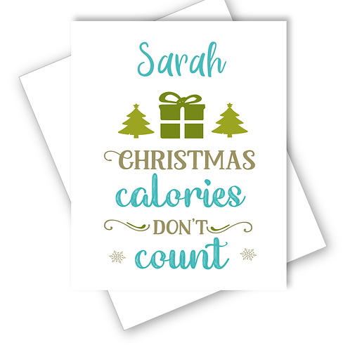 Christmas Card Diet Christmas Calories Don't Count