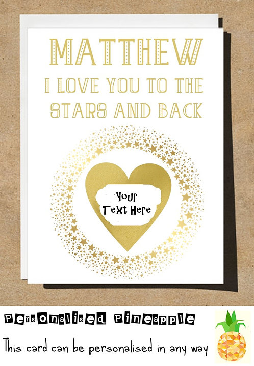 I LOVE YOU TO THE STARS AND BACK HEART SCRATCH REVEAL SURPRISE BIRTHDAY CARD